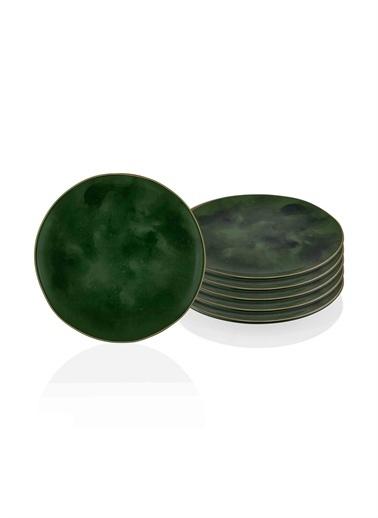 The Mia Deep Pasta Tabağı 6 Lı Set Yeşil Yeşil